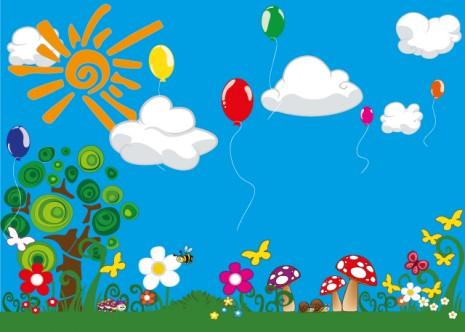 Wallpapers de paisajes infantiles de primavera im genes - Dibujos infantiles originales ...