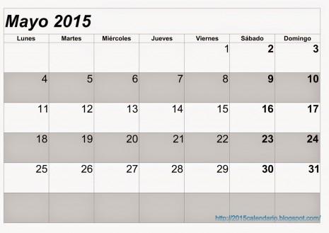 Calendario Mayo 2015 3
