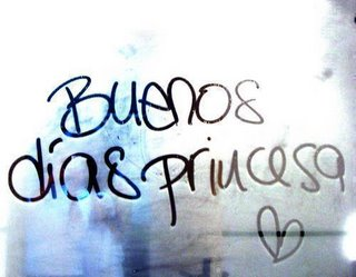 cartel buenos dias princesa