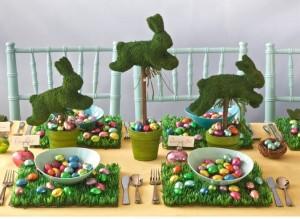 conejitos mesa semana santa!