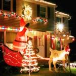 Casa iluminadas para las Fiestas Navideñas