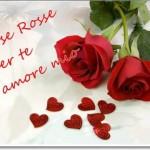 Rosas rojas con frases de amor