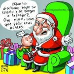 Imágenes de Papa Noel con frases graciosas