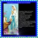 Estampas de la Vírgen de Lourdes para descargar gratis