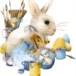 Tarjetas de conejos de Pascuas para imprimir y regalar