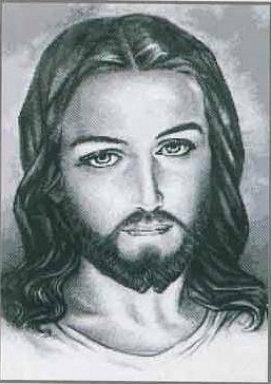 Rostro Cristo Blanco Y Negro