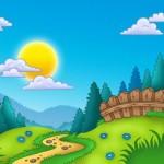 Wallpapers de paisajes infantiles de Primavera: Imágenes con frases de Primavera