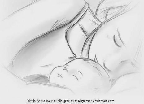 Dibujo-de-mamá-y-su-hijo-por-el-Día-de-la-Madre