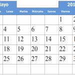 Imágenes de Calendarios del Mes de Mayo 2015 para descargar e imprimir