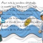 Imágenes infantiles del Día de la Bandera Nacional Argentina para compartir