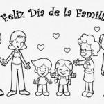 Día de la Familia – Dibujos para descargar, imprimir y colorear