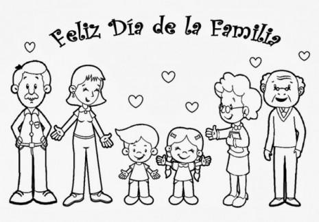 Día De La Familia Dibujos Para Descargar Imprimir Y Colorear