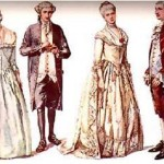 Imágenes de la vestimenta tradicional de la época de la colonia de 1810