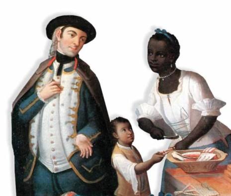 blancos criollos y negros esclavos