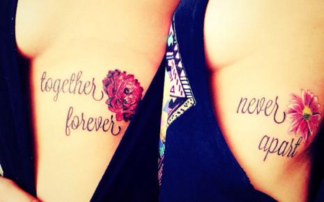 tatuaje-frase-flor-hermanas