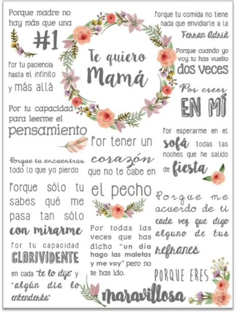 Imágenes Con Frases Para Mamá Tiernas De Agradecimiento