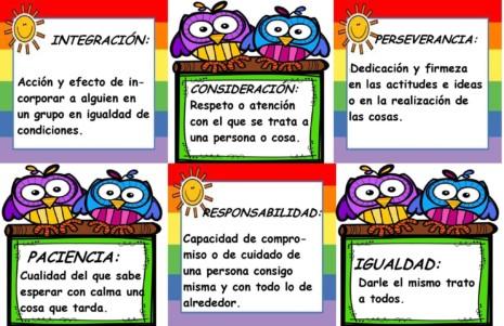 Los Valores Para Niños Con Imágenes Educativas