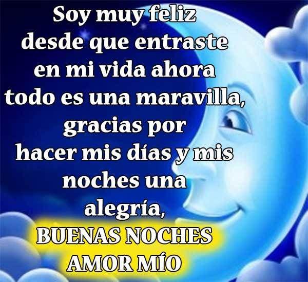Buenas Noches Amor Imágenes Frases Mensajes De Buenas